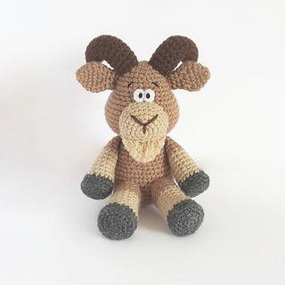 crochet pattern goat ram farm animal pattern toy