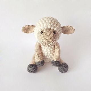 crochet amigurumi sheep lamb farm animal pattern toy