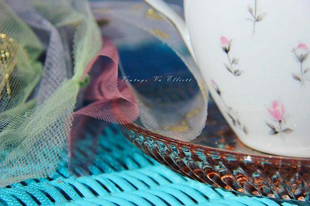 #teatime #vintagevirginiaart #vintagechina #aqua