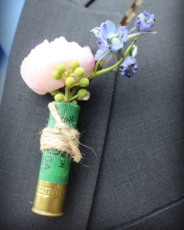 Boutineer_#shotgunshells _#boutineer _#weddingphotography _#wedding