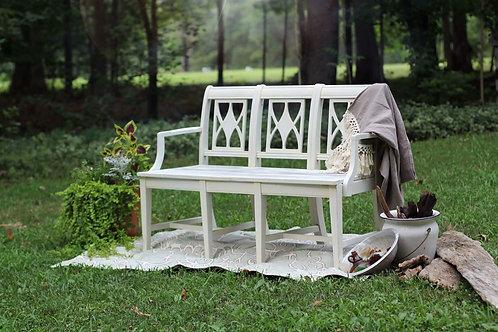 Handmade White Bench