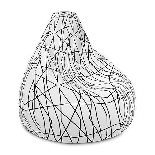 Geometric Lines - Bean Bag Chair Cover
