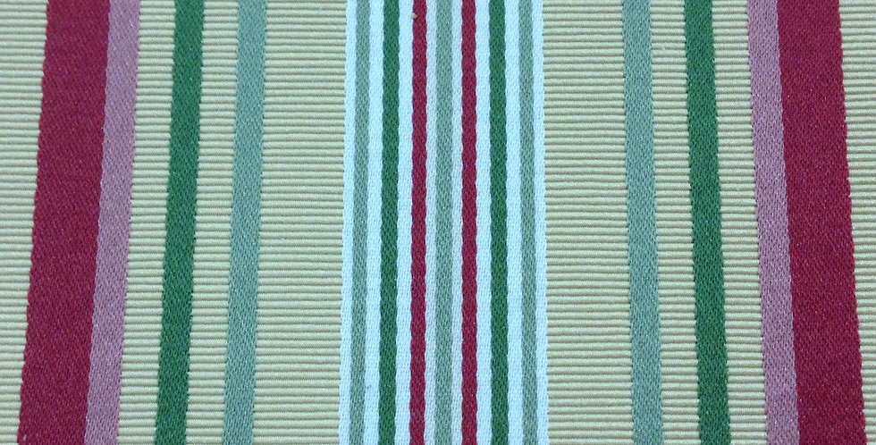 Raspberry, Butter Cream and Green Stripe