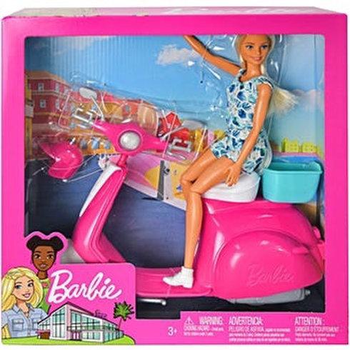בובת ברבי-ברבי עם אופנוע