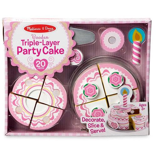 מליסה ודאג-עוגת יומולדת 3 קומות