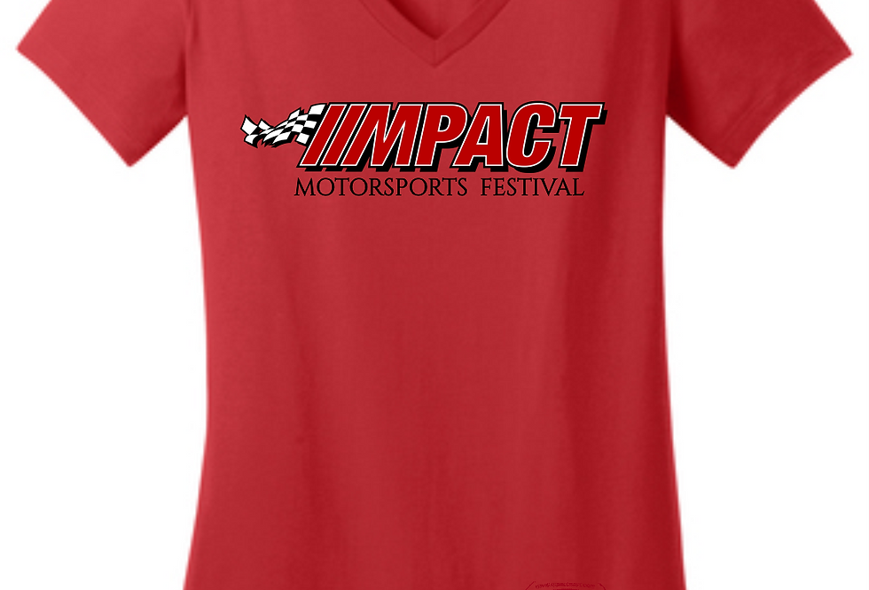 MPACT Womens Fitted Bella V-neck in Red
