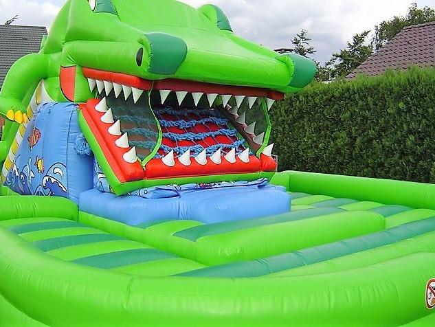 Springkasteel krokodil  (bewegend)