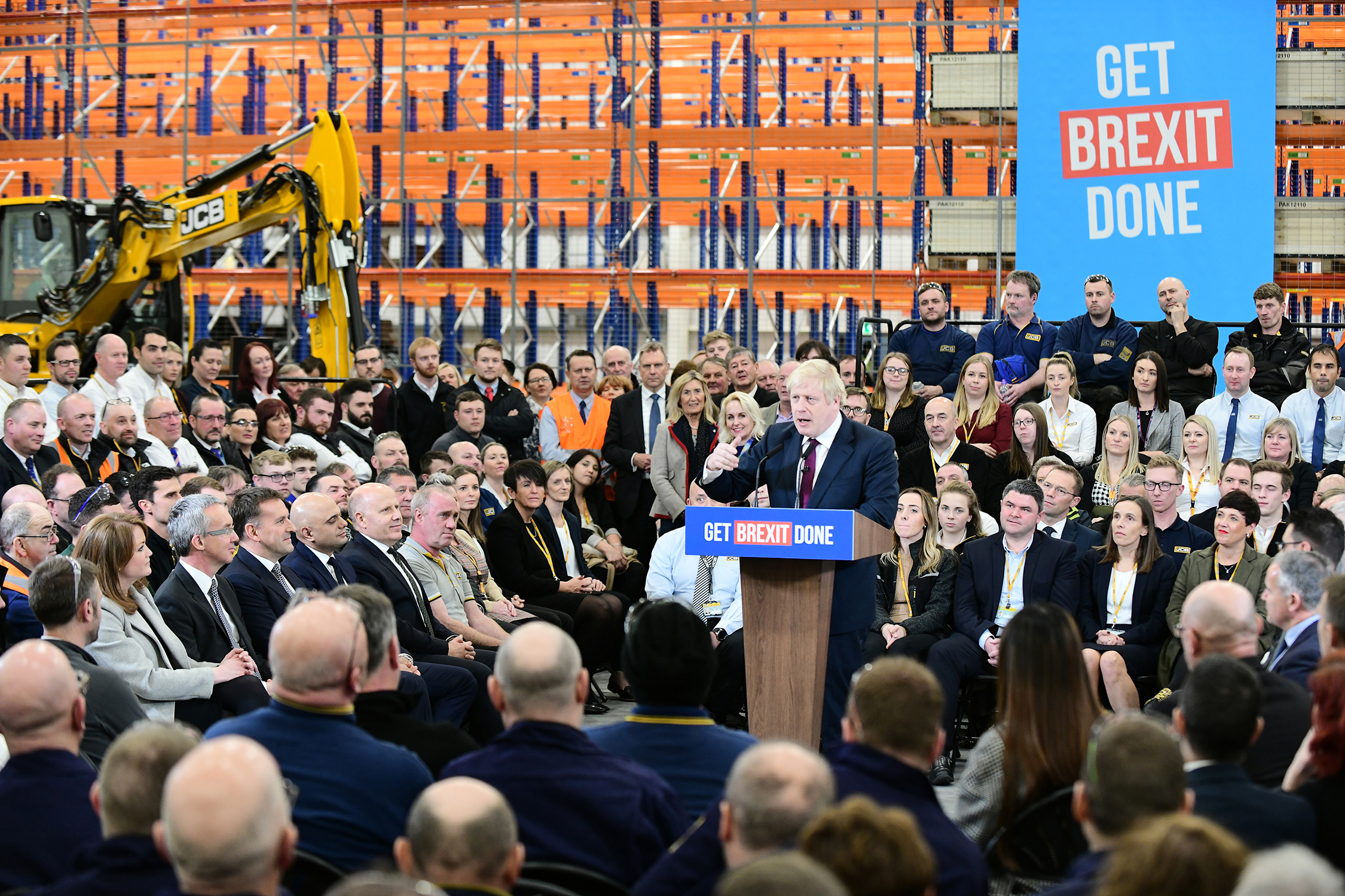 PM Boris Johnson at JCB