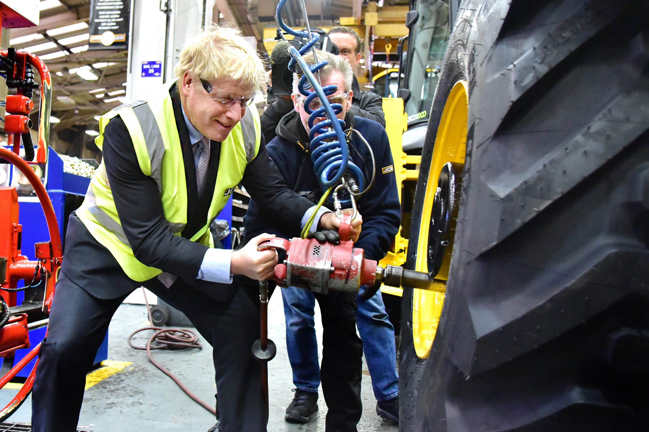 Boris Johnson MP at JCB in January 2019