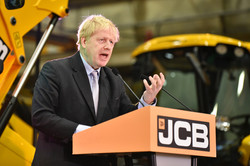 Boris Johnson MP at JCB in January 2019