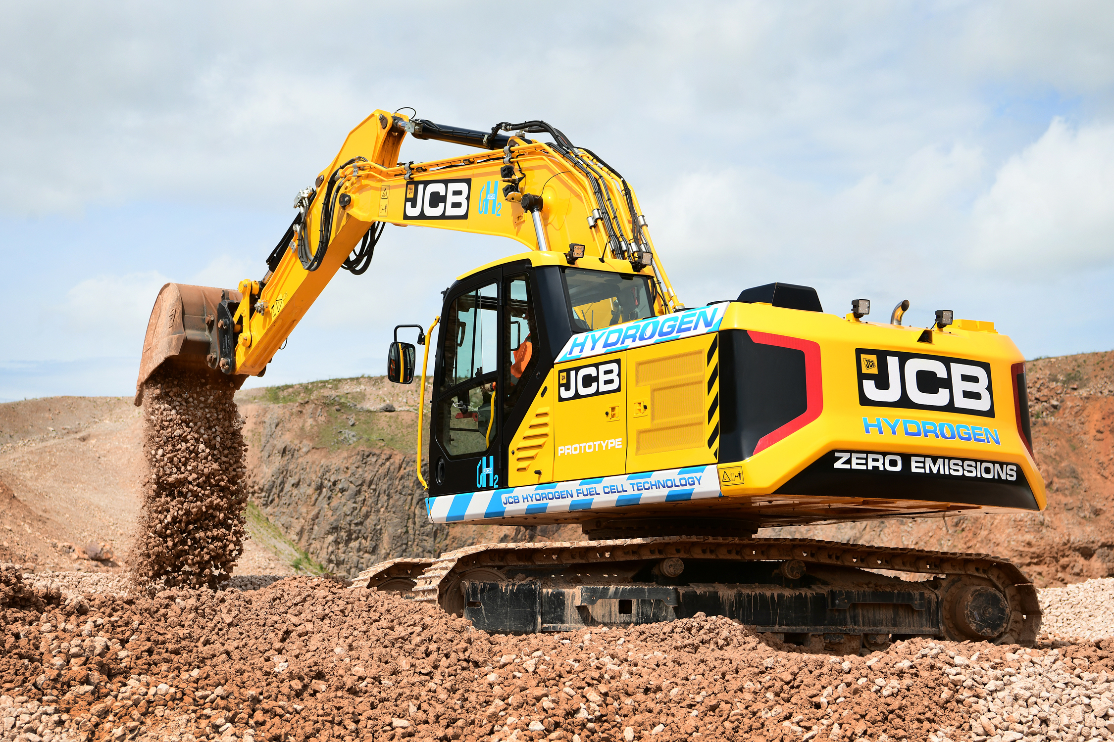 Hydrogen powered JCB 220X