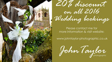 20% discount offer on 2016 Wedding bookings