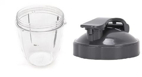 Nutribullet 600W 900W Small Cup + Travel Flip Top Lid : 18oz