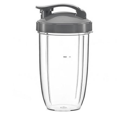 Nutribullet 600W 900W Medium Cup + Travel Flip Top Lid : 24oz