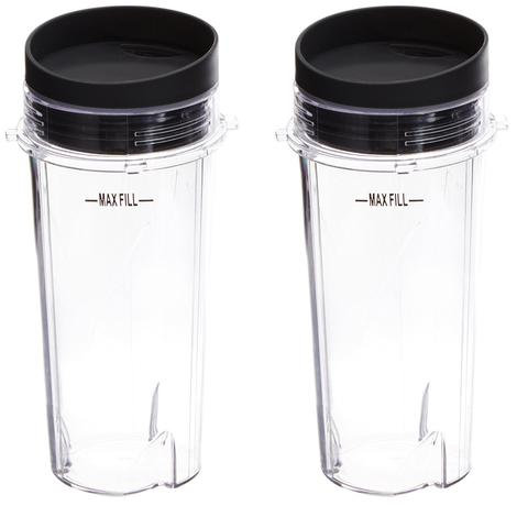 Ninja Mega Kitchen Medium Cup + Lid Replacement : 16 oz : 2 pack : BL770