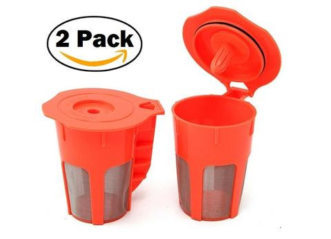 Keurig K carafe Reusable Filter : Plastic : 2 pack