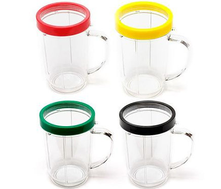 Magic Bullet Mugs + Lip Ring : 4 Pack
