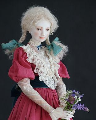 шарнирная кукла из фарфора Оксаны Сахаровой калининград