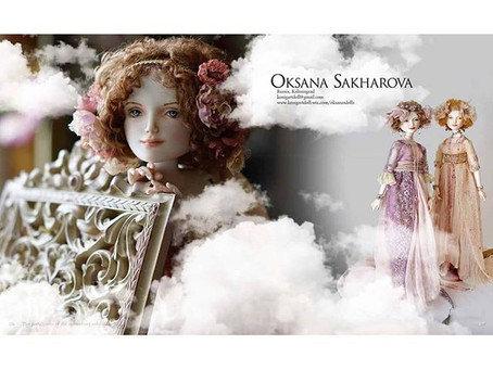 Куклы Оксаны Сахаровой на выставке ADI International в Амстердаме