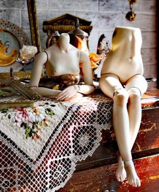 сборка куклы из фарфора