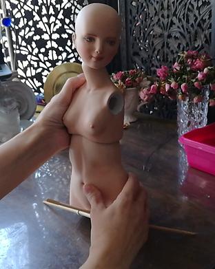 процесс как создается кукла из фарфора. мастер-модель, формы из гипса, отливка, обжиг,