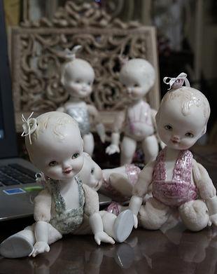 Куклы из фарфора в стиле Кьюпи
