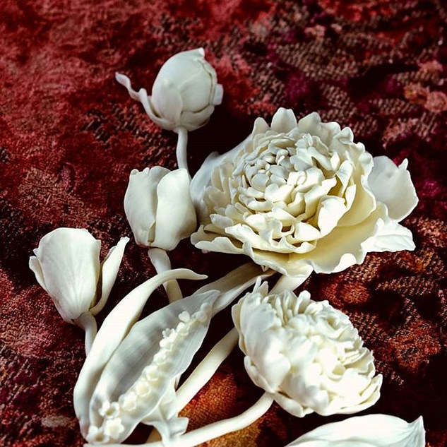 Весенний букет из фарфора париан