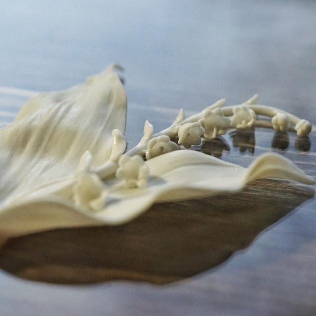 Ландыш из фарфора париан