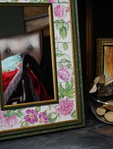 Рама для зеркала. Ручная роспись надглаз