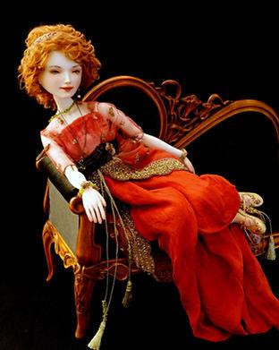 шарнирная кукла из фарфора Оксаны Сахаровой Калинингра