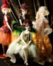 шарнирная кукла из фарфора Девушки Зигфилда