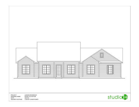Ladson Residence | Front Elevation