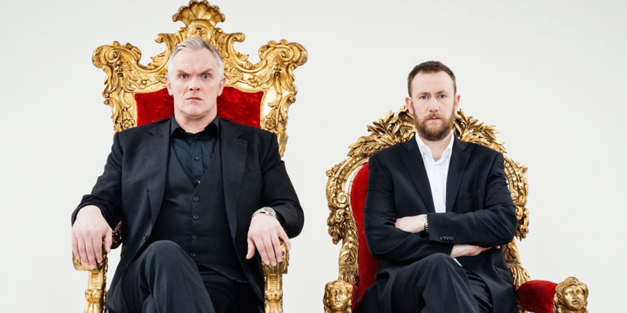 Greg Davies and Alex Horne, hosts of Taskmaster