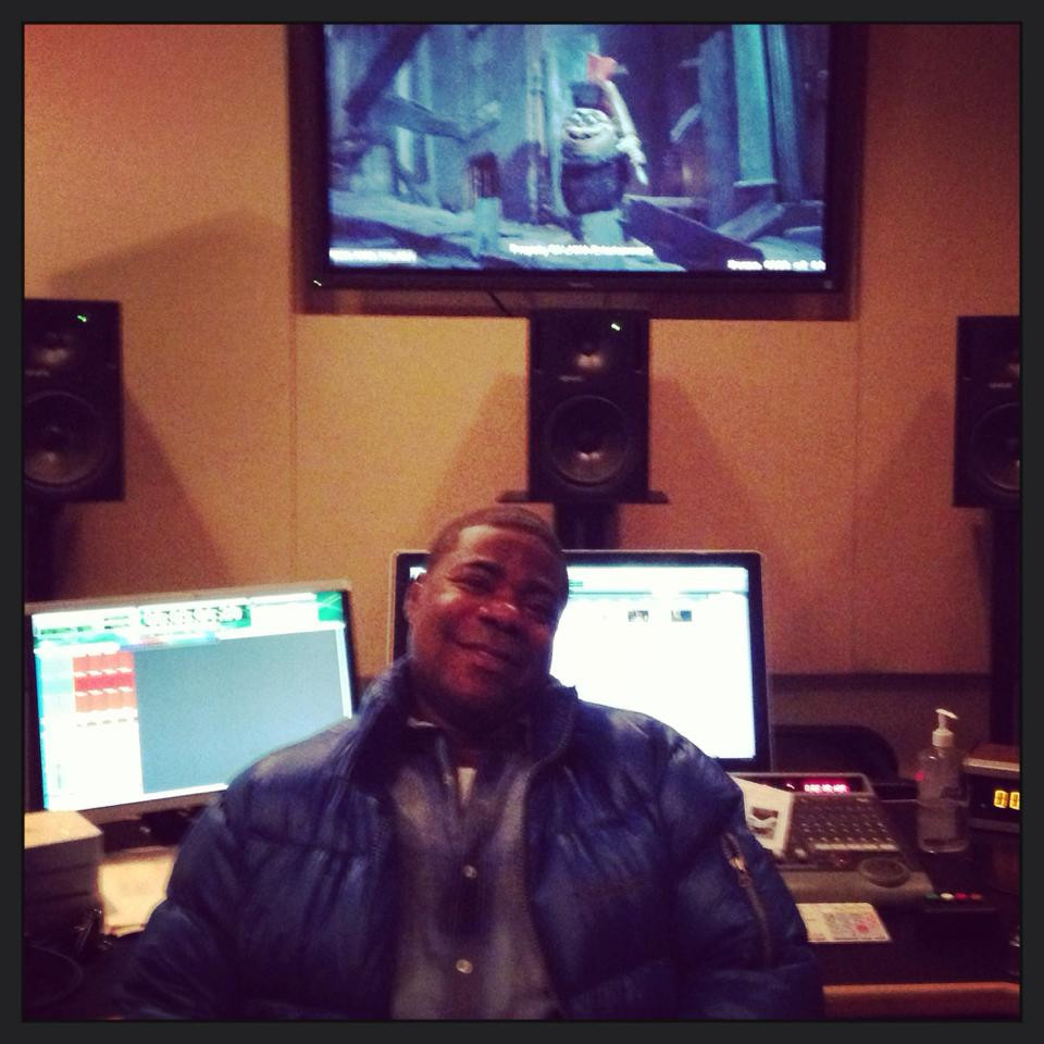 """Tracy Morgan recording for his character in """"The Boxtrolls"""""""