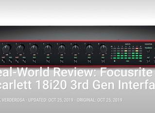 My Focusrite Scarlett 18i20 Gen3 Review for Pro Sound News