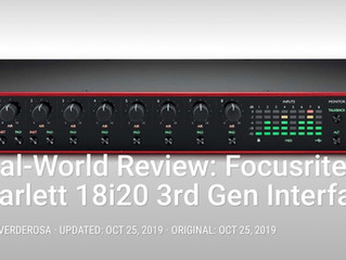 My Focusrite Scarlett 18i20 Gen3 Review for Pro Sound News
