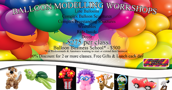 BALLOON MODELLING WORKSHOPS: CAIRNS