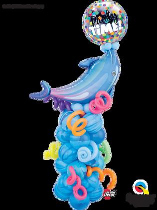 Summertime Splash Dolphin Column