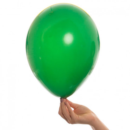 Green 11 inch Latex Party Balloons