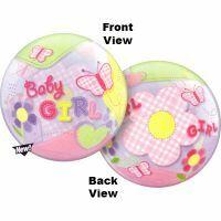 56CM BABY GIRL BUBBLE BALLOON BUTTERFLIES /1