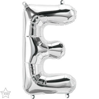 "16"" (41cm) North Star Air-Filled Silver Letter - E"