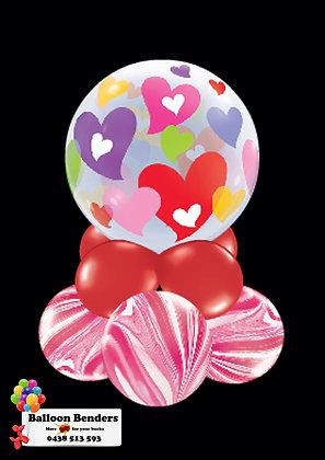 A56CM BUBBLE BALLOON COLOURFUL HEARTS /1