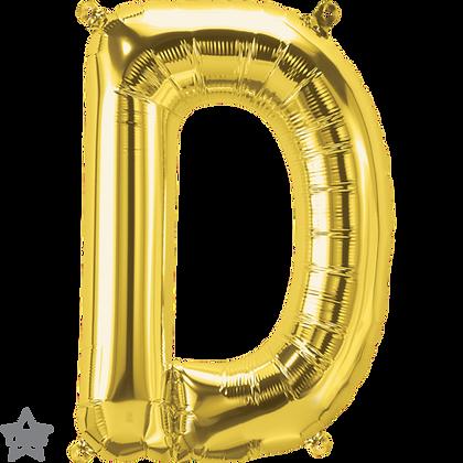 "16"" (41cm) North Star Air-Filled Gold Letter - D"