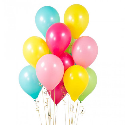 Tropical Latex Party Balloons - 14 Pack