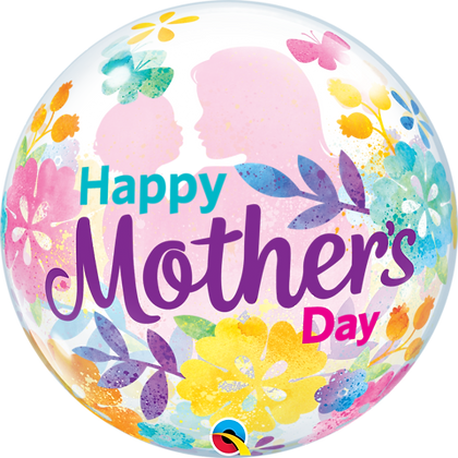 56CM MOTHER'S DAY SILHOUETTE BUBBLE BALLOON