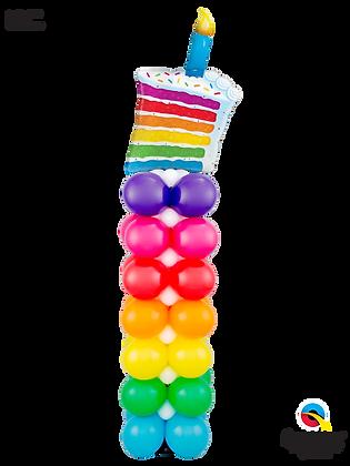 Rainbow Layer Cake Column