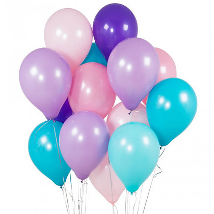 Mermaid Latex Party Balloons - 14 Pack