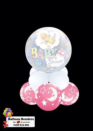 A56CM BABY SHOWER BUBBLE BALLOON MOON & STARS P
