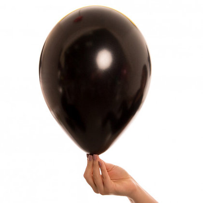 Pearl Onyx Black 11 inch Latex Party Balloons