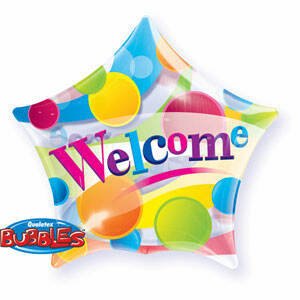 56CM STAR BUBBLE BALLOON WELCOME /1